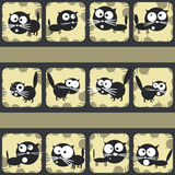 Set of funny cats. Abstract shooting gallery. Vector Stock Photography