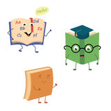 Set of funny characters from books. Vector illustration in cartoon style on a white background Royalty Free Stock Photo