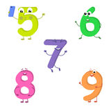 Set of funny characters from numbers 2. Vector illustration in cartoon style on a white background Royalty Free Stock Photo