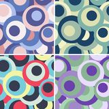 Set of funny circle backgrounds Stock Images