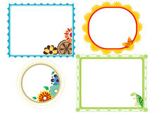 Set of funny decorative frames Royalty Free Stock Photo