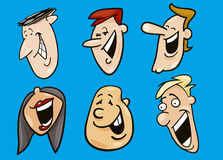 Set of funny faces Stock Image