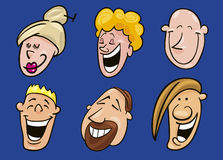 Set of funny faces Royalty Free Stock Photo