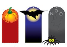 Set of funny halloween tags Stock Photos