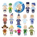 Set of funny images royalty free illustration