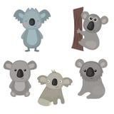 Set funny koalas Royalty Free Stock Image