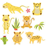 Set funny leopards Stock Image