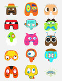 Set of funny monsters. Character. Cartoon color style for funny situations Royalty Free Stock Photography