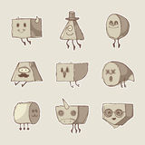 Set of funny monsters stock illustration