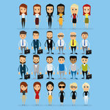 Set Of Funny Office Characters Isolated On Background Stock Photo