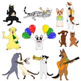 Elements set of party animals Royalty Free Stock Photo