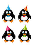 Set of funny penguins Royalty Free Stock Image
