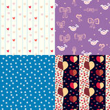 Set of funny seamless pattern. For kids Royalty Free Stock Image