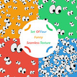 Set of funny seamless pattern Royalty Free Stock Photo