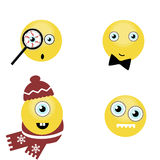 Set of funny smiles. vector Royalty Free Stock Photography