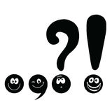 Set of funny smiley punctuation Royalty Free Stock Photography
