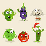 Set of funny vegetable characters. Royalty Free Stock Photos