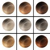 Set fur balls of different colors Stock Photo
