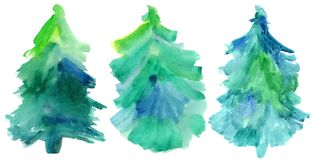 Set of fur-trees. Stock Photo