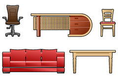 Set of furniture Stock Images