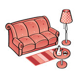 Set of Furniture Royalty Free Stock Photos