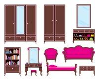 Set of furniture Stock Photos