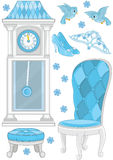 Set Of Furniture And Accessory Princess Royalty Free Stock Images