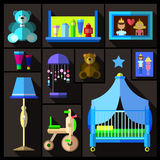 A set of furniture and children's room. Royalty Free Stock Photography