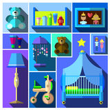 A set of furniture and children's room. Royalty Free Stock Image