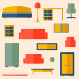 Set of furniture Royalty Free Stock Images