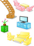 Set of furniture and equipment for the home Royalty Free Stock Images