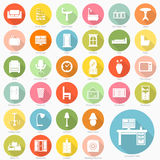 Set of furniture flat icons design Stock Photo