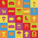 Set furniture.Home interiors.House equipment. Stock Photography
