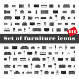 Set of furniture icons Royalty Free Stock Photography