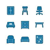 Set of Furniture icons Royalty Free Stock Images