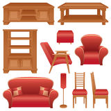 Set of furniture for a living-room Stock Images