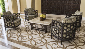 Set of furniture from rattan. Suitable for balcony and interior Stock Photo