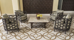 Set of furniture from rattan Royalty Free Stock Image