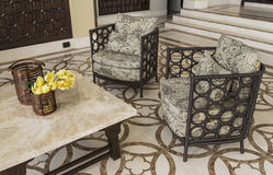 Set of furniture from rattan Royalty Free Stock Photography