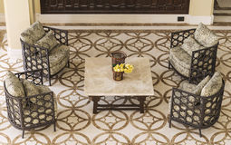 Set of furniture from rattan Stock Photography