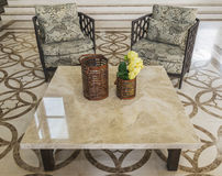 Set of furniture from rattan Stock Images