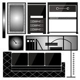 Set of furniture. vector icons in the form of silhouette furniture Royalty Free Stock Image