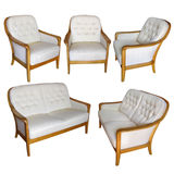 Set of furnitures isolated wit clipping path Royalty Free Stock Photography