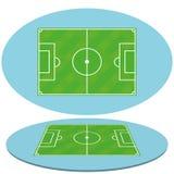 Set Futbolowi boisko do piłki nożnej Odizolowywający Obraz Stock