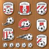 Set futbolowi logowie Obrazy Stock