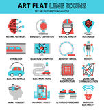 Set of future technology icons vector illustration