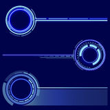 A set of futuristic rings. Graphic resources for designing fantastic art works. Vector . Stock Image