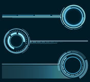 A set of futuristic rings. Graphic resources for designing fantastic art works. Vector . Stock Photo