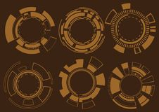 Set of Futuristic Technology Element Vector Stock Images