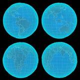 Set Futurystyczna Digital ziemia ilustracji